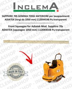 SAPPHIRE 70S GOMMA TERGI ANTERIORE per lavapavimenti ADIATEK (tergi da 1050 mm)