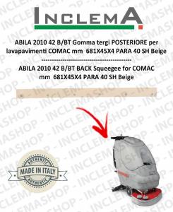 ABILA 2010 42 B/BT gomma tergi POSTERIORE per lavapavimenti COMAC Alluminium sq. till s/n 111011125