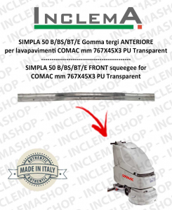 SIMPLA 50 B/BS/BT/E gomma tergi ANTERIORE optional per lavapavimenti COMAC