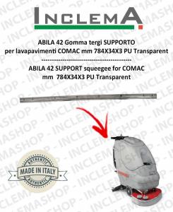 ABILA 42 gomma tergi SUPPORT per lavapavimenti COMAC Old Alluminium sq.