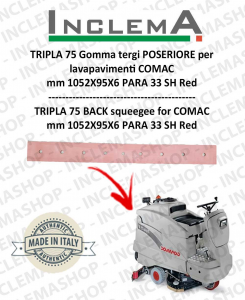 TRIPLA 75 B II SERIE Gomma tergi POSTERIORE per lavapavimenti COMAC