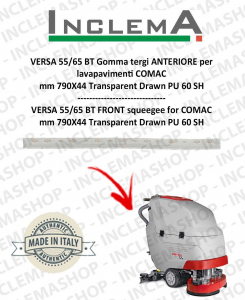 VERSA 55/65 BT Gomma tergi ANTERIORE per lavapavimenti COMAC (tergi da 800mm)