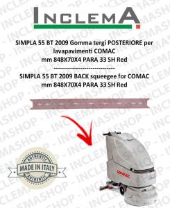SIMPLA 55 BT Gomma tergi POSTERIORE per lavapavimenti COMAC
