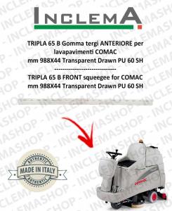 TRIPLA 65 B Gomma tergi ANTERIORE per lavapavimenti COMAC (tergi da 926mm)