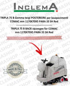 TRIPLA 75 B Gomma tergi POSTERIORE per lavapavimenti COMAC (tergi da 1085 mm)