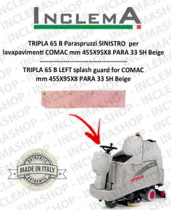 TRIPLA 65 B Paraspruzzi SINISTRO per lavapavimenti COMAC