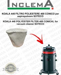 KOALA 440 FILTRO POLIESTERE 440 CONICO per aspirapolvere SOTECO