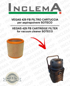 VEGAS 429 FB FILTRO CARTUCCIA per aspirapolvere SOTECO