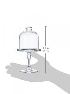 Alzata dolci pasticceria in vetro con campana cm.18,5h diam.10