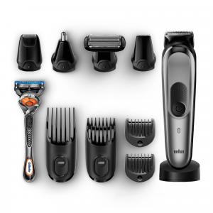 Braun Multigroomer Rifinitore 10-In-1 Tutto-In-1 MGK7021 Rasoio Barba Elettrico, Rifinitore E Tagliacap