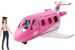 MATTEL Aereo Di Barbie Con Pilota Bambole Mini - Playset