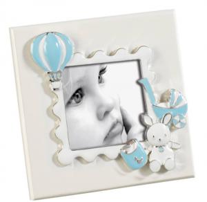MASCAGNI CASA Cornice Formato 6X6 Con Decorazioni Azzurre Cornici Classiche