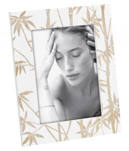MASCAGNI CASA Cornice Portafoto Verticale Formato 13X18 Con Decorazioni Palme