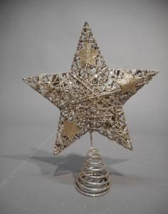 TABOR Puntale Stella Glitt.Cham.H25 Natale Alberi - Puntali