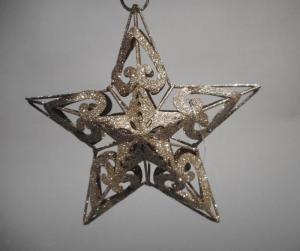 TABOR Stella Metallo App.Oro H.15Cm Natale Alberi - Sfere E Palline