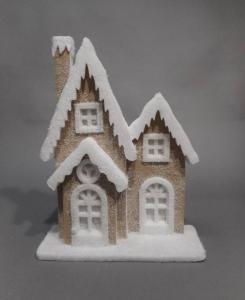 TABOR Casa Ovatta Juta Led 35X52 Natale Decorazioni E Oggettistica