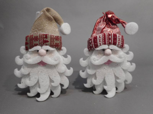 TABOR Faccia Babbo Capp.Juta 40Cm Natale Decorazioni E Oggettistica