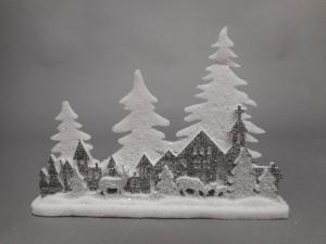TABOR Pannel.Paesaggio Grigio 41X29 Natale Decorazioni E Oggettistica
