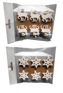 TABOR Cf.6 Mollette Stella/Renna 2Ass Natale Decorazioni E Oggettistica
