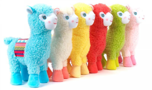 VENTURELLI Lama Medio Colori Assortiti Peluches Animali Del Bosco, Foresta