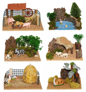 EUROMARCHI Accessorio Con Animali Cm 19X15 In Display Natale Presepe