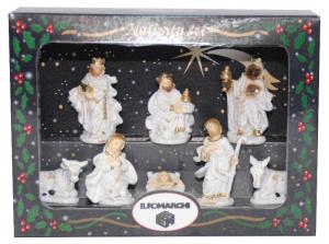 EUROMARCHI Nativita' Cm 06 Scatola Vetrina Set 8 Pezzi Natale Presepe