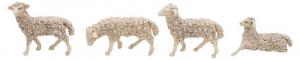 EUROMARCHI Pecore Cm. 7X6 Adatte Cm 12 Set 4 Pezzi Natale Presepe - Personaggi