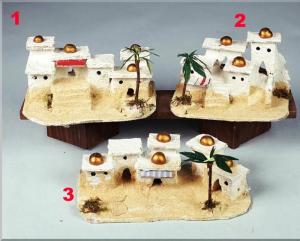 ROSSI ROSA Casa Araba In Gruppo Cm. 15/17X10X8 (3 Mod.) Natale Presepe
