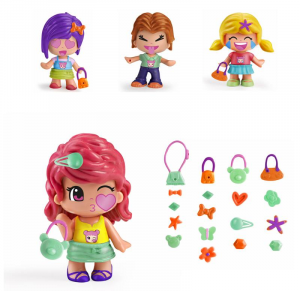 FAMOSA Pinypon Emojis Cdu 24X2 - Serie 9 (4 Ass.Ti) Bambole Mini