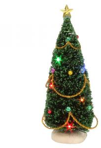 EDELMAN Albero Di Natale Con Luci A Batteria - Altezza 15 Cm Natale Alberi