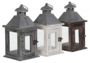 EDELMAN Lanterna Vintage Colori Assortiti - Misure 15X15X30,5Cm Natale Luci