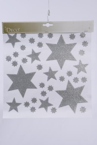 KAEMINGK Window Decoration Star Design Silver Natale Vetrofanie, Biglietti