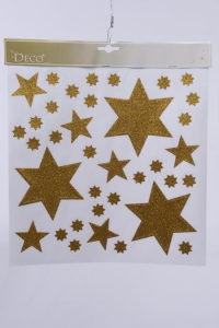 KAEMINGK Window Decoration Star Design Gold Natale Vetrofanie, Biglietti