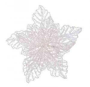 KAEMINGK Stella Di Natale Bianca Glitter Con Clip Natale Alberi - Accessori