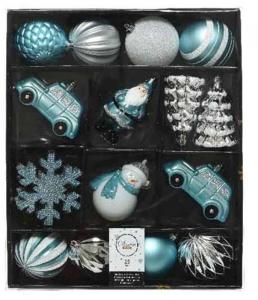 KAEMINGK Palline Assortite In Tonalita' Di Azzurro Natale Alberi - Sfere