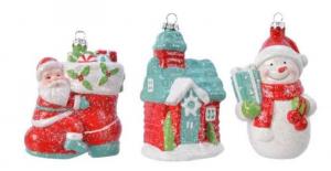 KAEMINGK Figura Natalizia In Plastica 3Ass Natale Decorazioni E Oggettistica