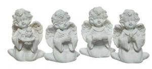 KAEMINGK Angioletto In Resina 4Ass Colore Bianco Natale Decorazioni