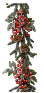KAEMINGK Ghirlanda Pino Con Bacche Natale Ghirlande E Frange
