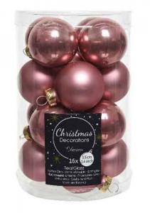 KAEMINGK Confezione Mini Palline Colore Rosa Velluto Lucido/Opaco Natale Alberi