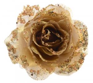 KAEMINGK Rosa In Plastica Con Clip Colore Oro Natale Decorazioni E Oggettistica