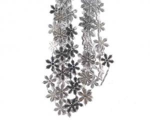 KAEMINGK Plc Bead Garland Snowflake Silver Natale Ghirlande E Frange