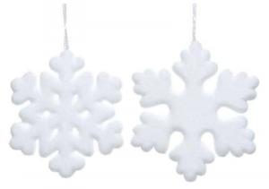 KAEMINGK Fiocchi Di Neve Morbidi Diametro20X2.3Cm Natale Decorazioni