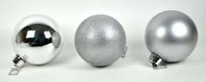 EDELMAN Pallina Media Colore Argento 3 Ass - Diametro 20Cm Natale Alberi