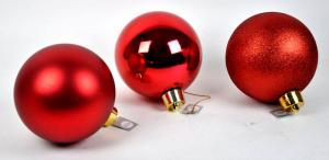 EDELMAN Pallina Media Colore Rosso 3Ass - Diametro 20Cm Natale Alberi - Sfere