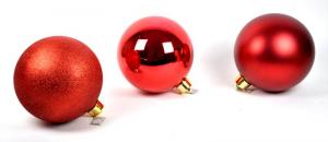 EDELMAN Pallina Grande Colore Rosso 3Ass - Diametro 25Cm Natale Alberi - Sfere