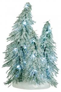 EDELMAN 3 Alberi Innevati Con Luci Natale Luci E Decorazioni Luminose