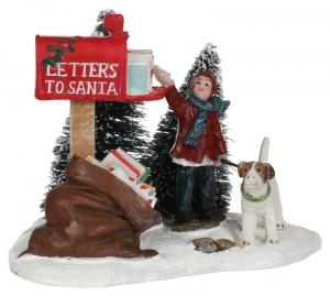 EDELMAN Statuina Lettere A Babbo Natale Natale Presepe - Personaggi E Animali