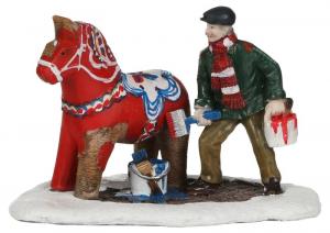 EDELMAN Painting Dalarna - L9,5Xw6,5Xh7Cm Natale Presepe - Personaggi E Animali