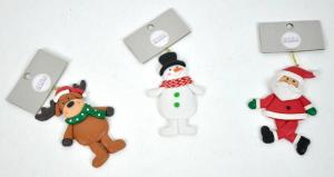 EDELMAN Decorazioni Morbide Da Appendere Babbo Natale, Renna, Pupazzo Di Neve