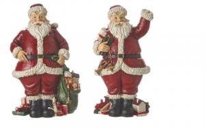 EDELMAN Babbo Natale 2 Ass - L9,5Xw6,5Xh16Cm Natale Babbo Natale